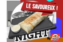 Le savoureuxTortilla avec escalope fraiche, tranches de cheddar et sauce Boursin faite maison   8€Commander par tél ou SMS